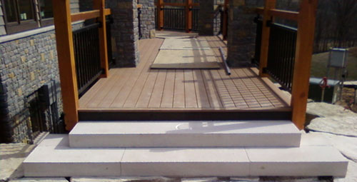 Stone Steps Leading To Wooden Deck